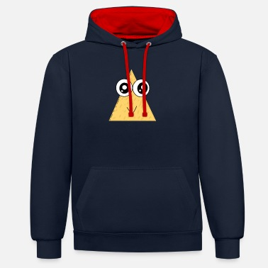 Comicstyle Taco Nacho Comicstyle Glubschaugen - Unisex contrast hoodie