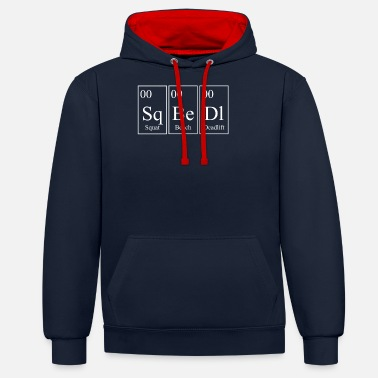 Squat SQ BE DL Squat Bench Deadlift Powerlifting - Blanc - Sweat à capuche contrasté unisexe