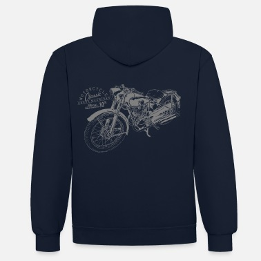 Bikes And Cars Collection bike - Felpa con cappuccio bicolore unisex