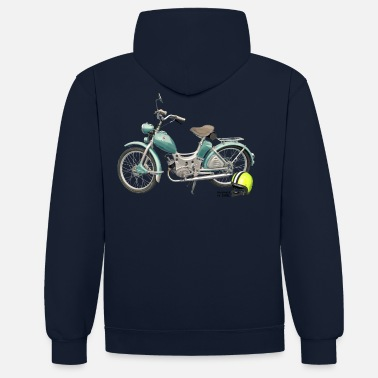 Bikes And Cars Collection SR Simson Moped DDR oldschool ossi best roller GDR - Sudadera con capucha en contraste unisex