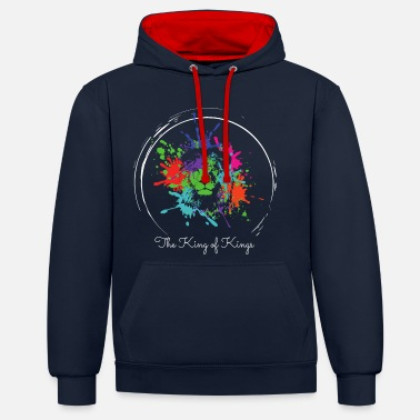 King The King of Kings - Unisex Hoodie zweifarbig