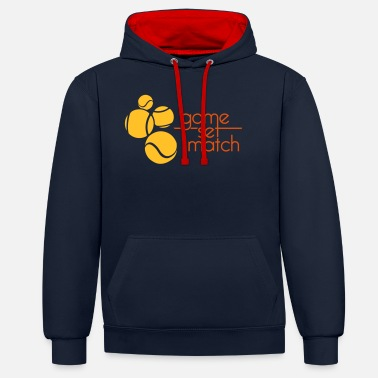 Set TENNIS: GAME SET MATCH - Unisex contrast hoodie