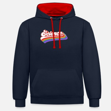 Up Science Design. Retro Style Product For Teachers - Unisex Contrast Hoodie
