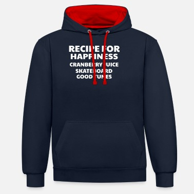 Good Ch Cranberry Vibes & Tunes Recipe for Happiness - Unisex Contrast Hoodie