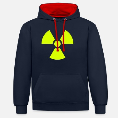 Radioactif Radiation Sign (Vector) - Sweat à capuche contrasté unisexe