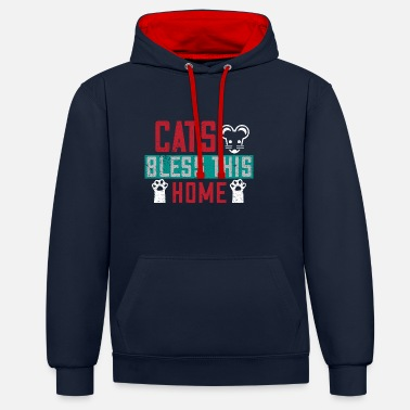 Scratch Cat Cats Cat Lover Hangover Gift 20 - Unisex Contrast Hoodie