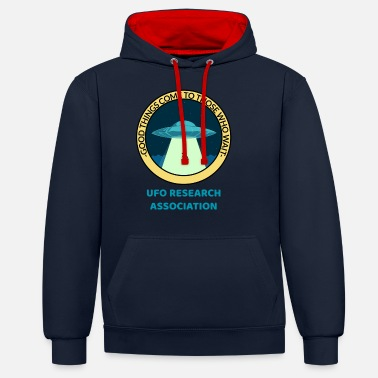 Ufo Good Things Come To Those Who Wait UFO - Unisex Contrast Hoodie