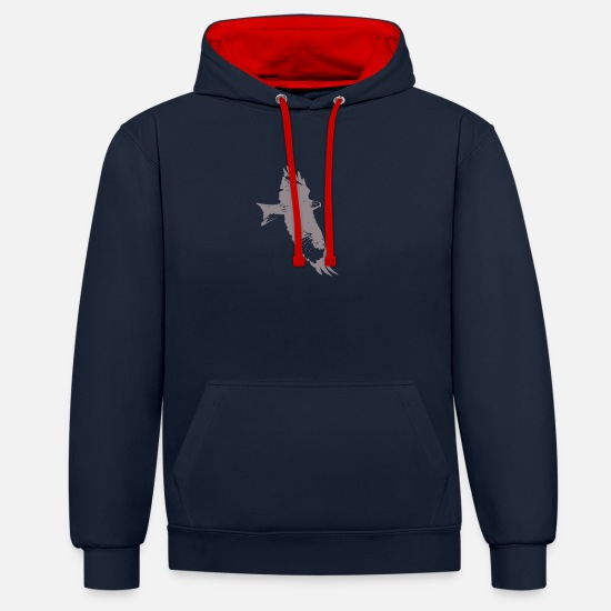 Flight Hoodies & Sweatshirts - Eagle, hawk, falcon - Unisex Contrast Hoodie navy/red