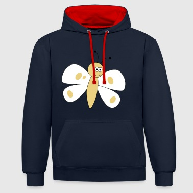 papillon - Sweat-shirt contraste
