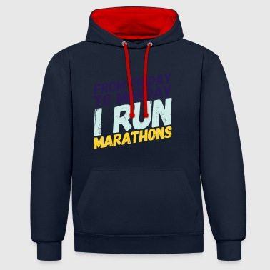 marathonien - Sweat-shirt contraste
