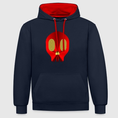 b1 Red MAN - Contrast Colour Hoodie