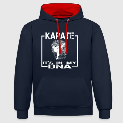 KARATE DNA - Contrast Colour Hoodie