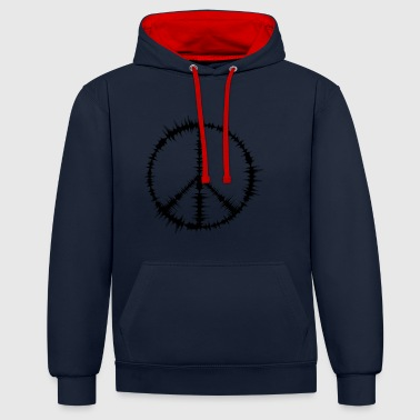 The Sound of Peace - Contrast Colour Hoodie