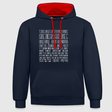 Texas Holdem Starting Hands - Contrast Colour Hoodie