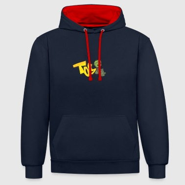 toy graffiti - Contrast Colour Hoodie