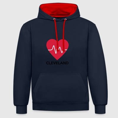 Coeur Cleveland - Sweat-shirt contraste