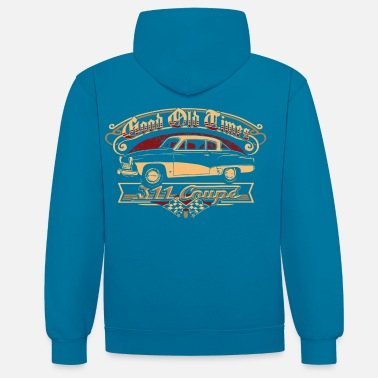 Bikes And Cars Collection Wartburg 311 Coupe - Contrast Colour Hoodie