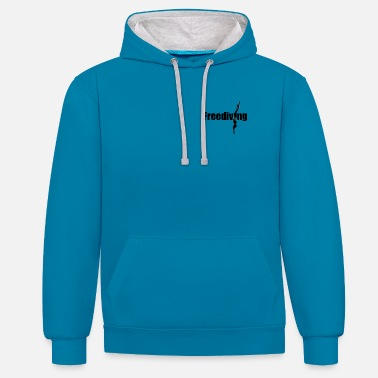 Freediving freediving - Contrast Colour Hoodie