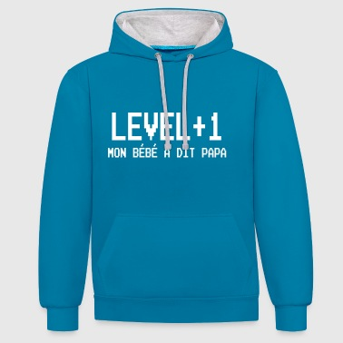 Level+1 Papa - Contrast Colour Hoodie