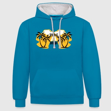 Spring Break Spring break - Contrast Colour Hoodie