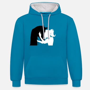 Horse love - Contrast Colour Hoodie