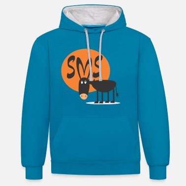 Sm SMS Jackass - Contrast Colour Hoodie
