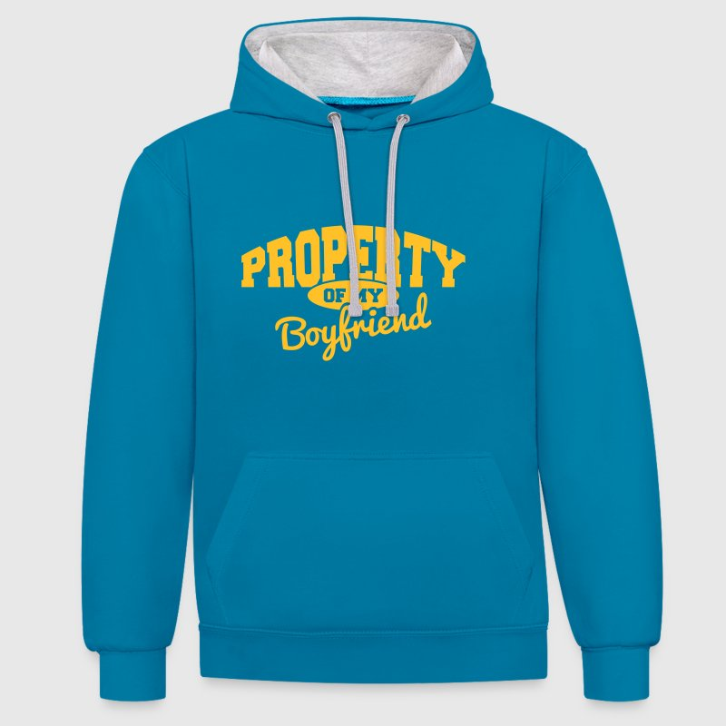 PROPERTY OF MY BOYFRIEND - Contrast Colour Hoodie