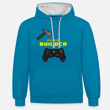 Video Game Video Game Builder! - Sweat-shirt contraste