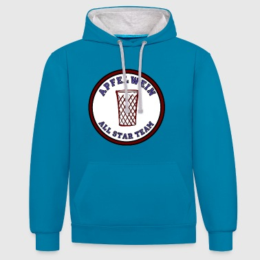 Apfelwein All Star Team - Kontrast-Hoodie