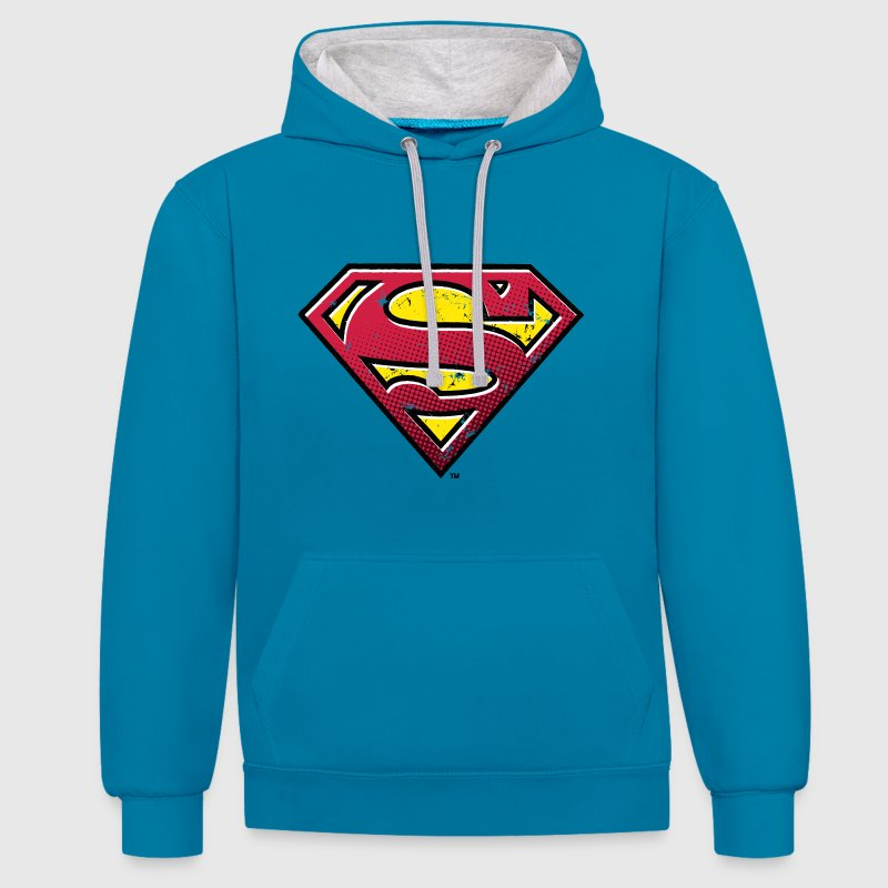 Superman Logo Tee shirt Ado - Sweat-shirt contraste