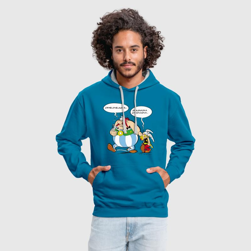 Asterix & Obelix boudeur Sweat-shirt  - Sweat-shirt contraste