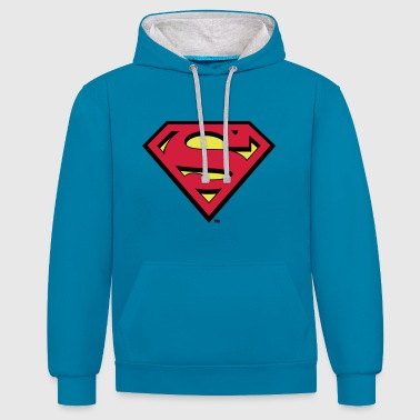 Tee-shirt Enfant Superman S-Shield - Sweat-shirt contraste