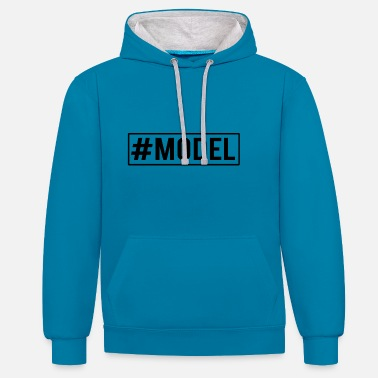 Models model - Contrast Colour Hoodie