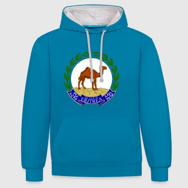 Eritrea Emblem - A piece of East Africa - Contrast Colour Hoodie