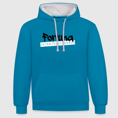 Fortuna Fortuna - we are back - Contrast Colour Hoodie