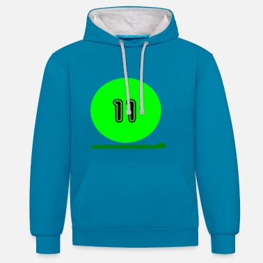 Eleven Eleven - Contrast Colour Hoodie