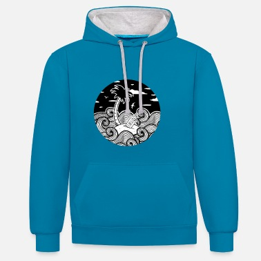 Positive Message in a bottle - Contrast Colour Hoodie