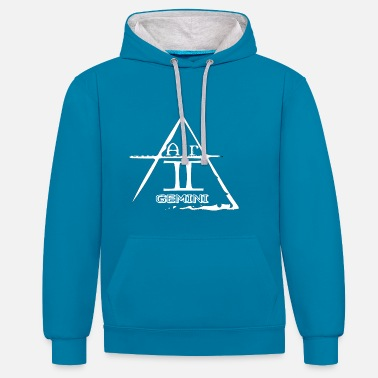 Twins twin - Contrast Colour Hoodie