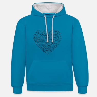 Musical Coeur musical - Sweat-shirt contraste