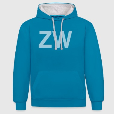 ZW Initiales - Sweat-shirt contraste