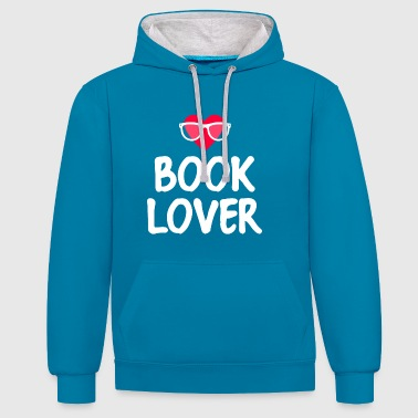 BOOK LOVER - Contrast Colour Hoodie