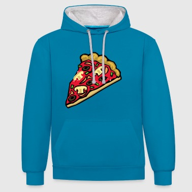 Pizza Pizza pizza - Sweat-shirt contraste