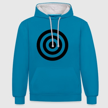 Hits hit - Contrast Colour Hoodie