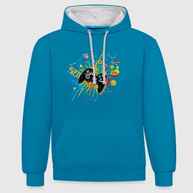 Video Gamepad Video Games - Contrast Colour Hoodie