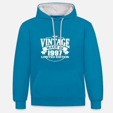 1997 Vintage made in 1997 - Contrast Colour Hoodie