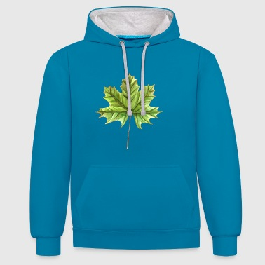 Leaf of a maple - Contrast Colour Hoodie