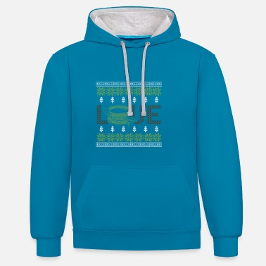 Tea Shop Ugly Sweater Tea Lover Design - Contrast Colour Hoodie
