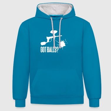 Paintball - Paintballer - Paint - Paintball weapon - Contrast Colour Hoodie