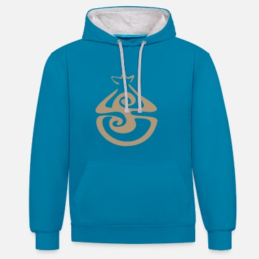 Power Symbol Fulfilling Yoga Design Gift Idea - Contrast Colour Hoodie