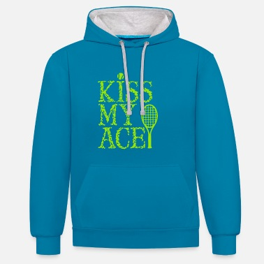 Kiss KISS MY ACE - Contrast Colour Hoodie